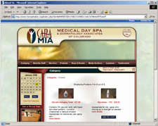 Cara Mia Medical Day Spa Site Redesign