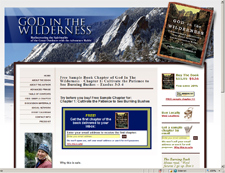 God in the Wilderness Website Design Project