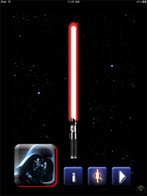 iPad Lightsaber application