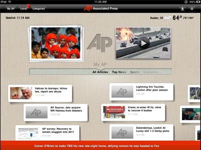 iPad - iPhone Application for Associated Press