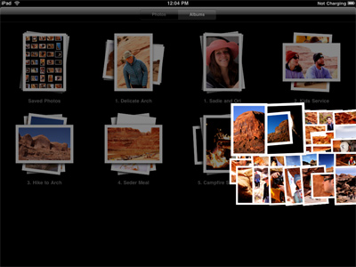 iPad Album View - expanding screenshot