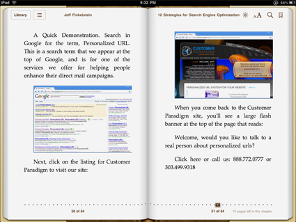 eBook in iTunes