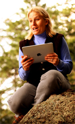 Reading an eBook from an iPad