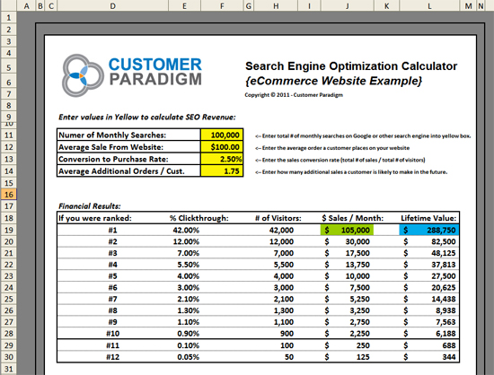 SEO Calculator - Download