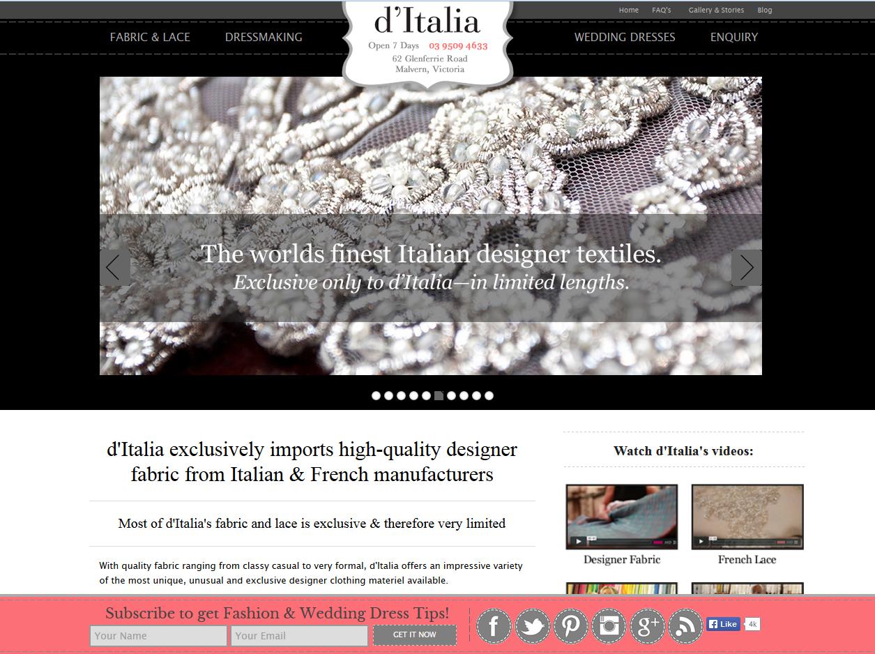 Screenshot of Ditalia Page
