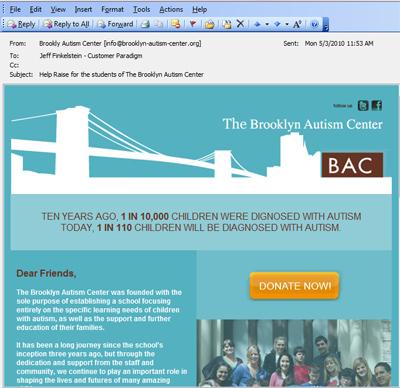Non-profit fundraiser campaign - HTML email campaign