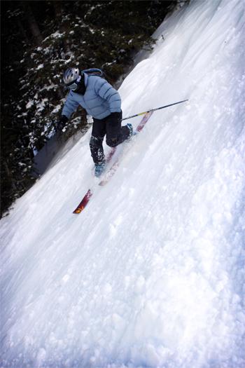 Tele-skiing at Copper Mountain