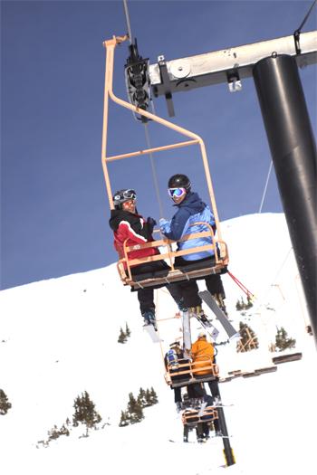 Ski Photographer - Chairlift shot