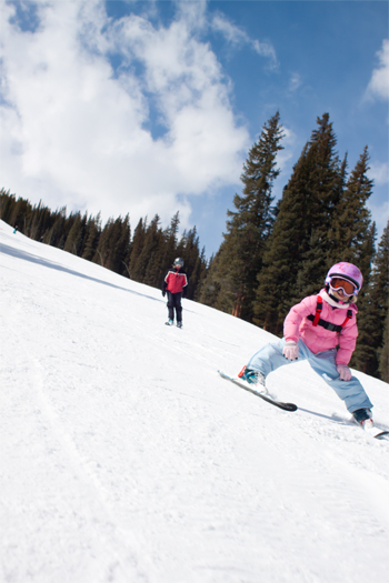 Sadie skiing at Copper Mountain Colorado