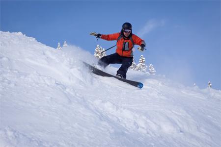 Craig Snowboarding at Copper Mountain, Colorado