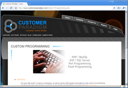 Customer Paradigm Screenshot