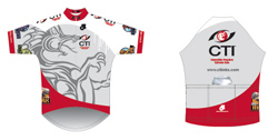 Bike Jersey layout for Custom Ink Company