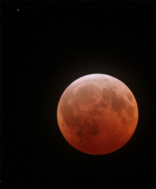 Lunar eclipse - red moon