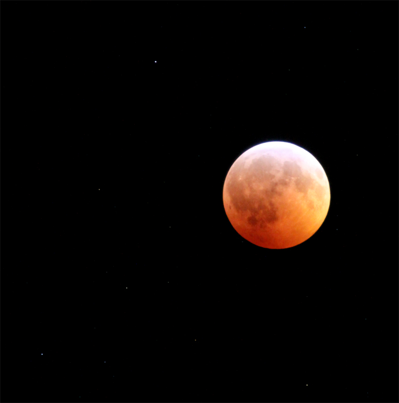 red moon during lunar eclipse - dec 21 2010