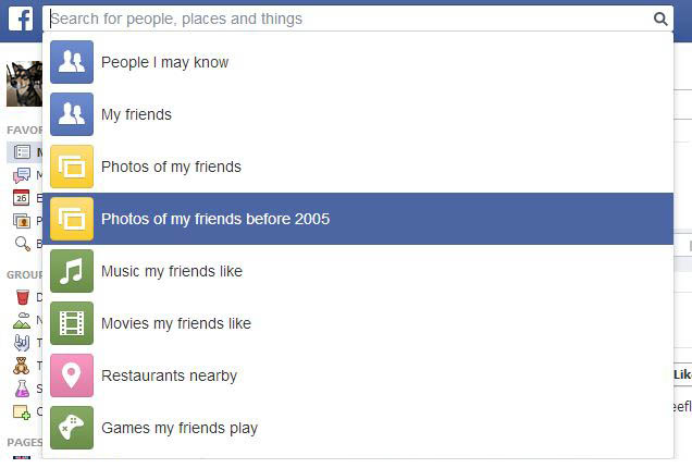Facebook Graph Search Bar