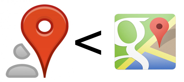 Google+ Local App and Google Maps App Button