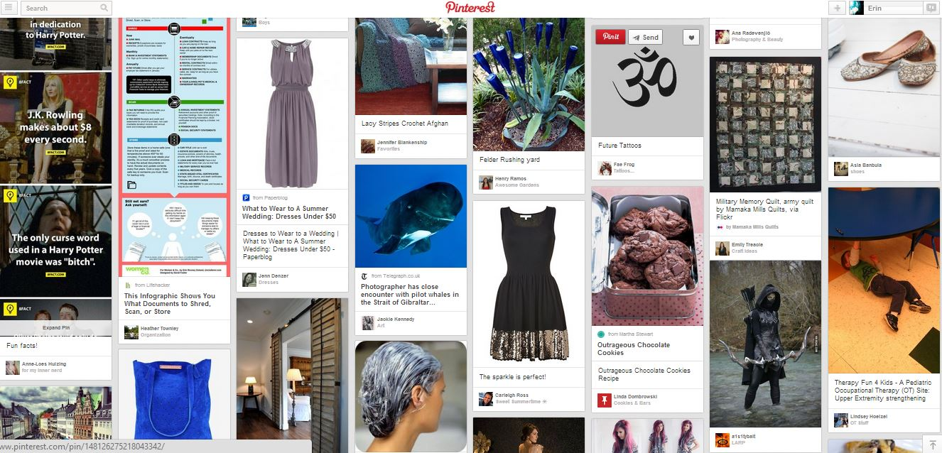 Pinterest Feed Screenshot