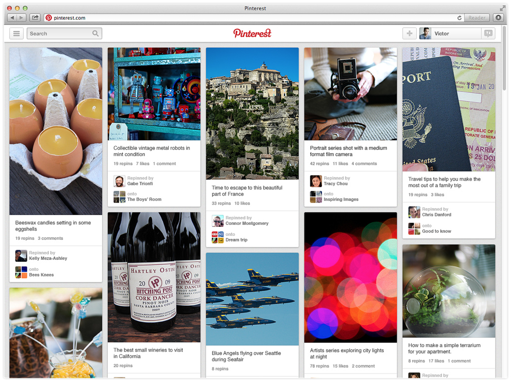 Pinterest for Web - Internet Marketing - Customer Paradigm