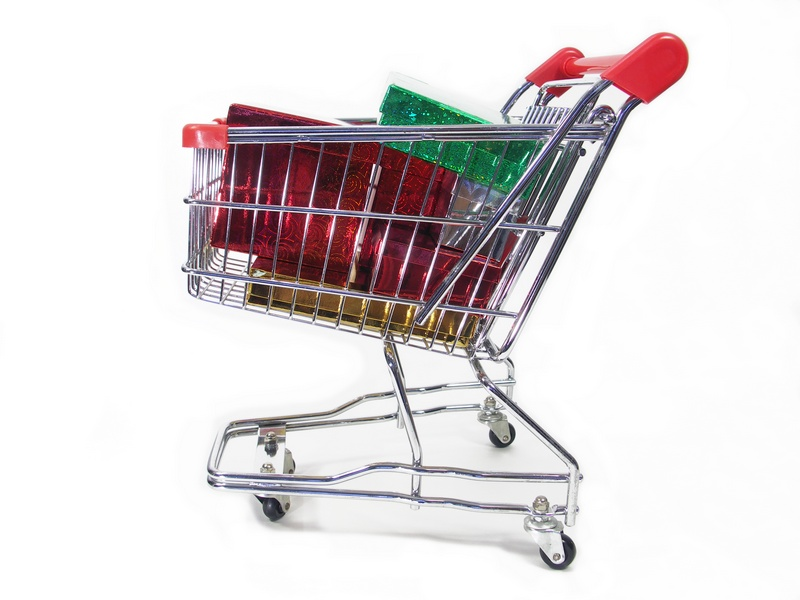 Shopping Cart with Presents - Ecommerce SEO - Customer Paradigm
