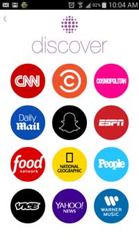 Snapchat Discover Home Screen - Boulder SEO - Customer Paradigm