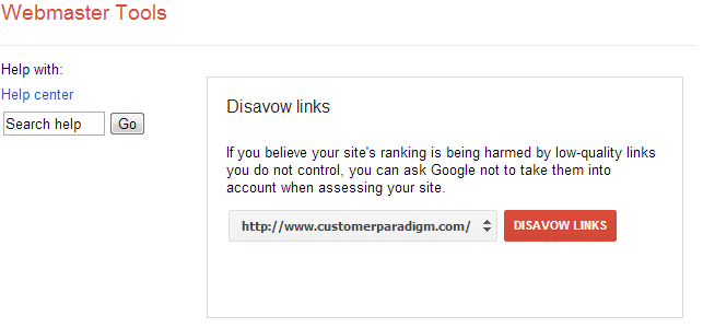 finding the google disavow link tool