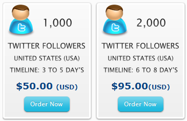 Purchasing fake twitter followers