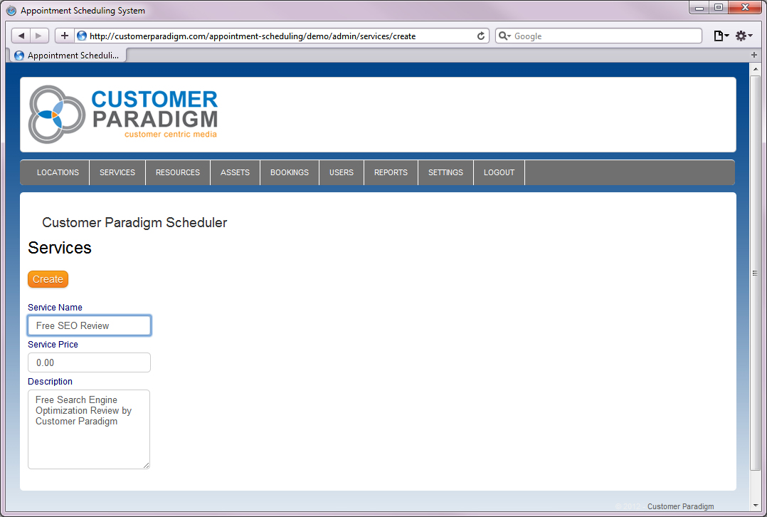 Customer Paradigm  Web Based Appointment Scheduling Php Software