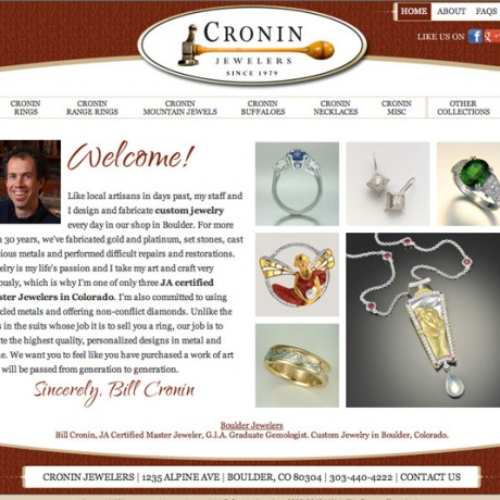 Cronin Jewelers – SEO in Boulder, Colorado