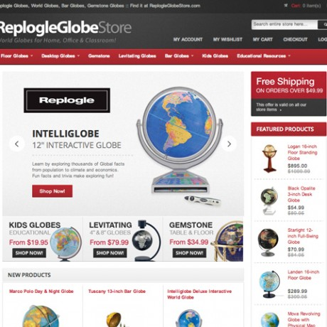 Replogle Globe Store – Magento Development
