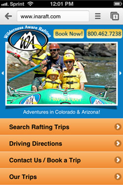 Wilderness Aware Mobile Site