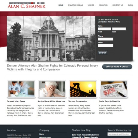 Shafner Law – WordPress Design in Colorado + SEO