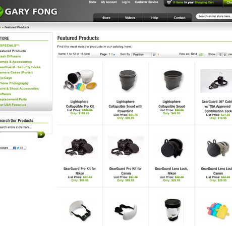 Gary Fong Photography – Magento Enterprise