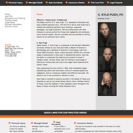 Kyle Pugh – Law Office WordPress Website