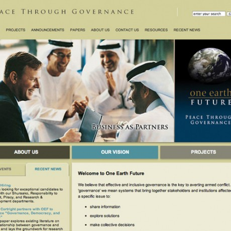 One Earth Future – Website Design in Colorado