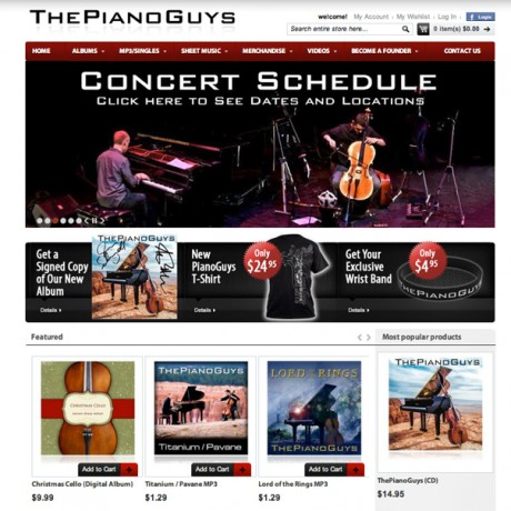 The Piano Guys – Magento Development