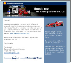 Shell Global Solutions - HTML Email Sample
