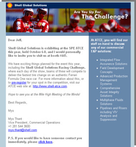 Shell Global Solutions - HTML Email Campaign
