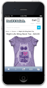 Mobile Magento eCommerce Website Design by Customer Paradigm