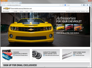 Magento Responsive Design - Chevrolet Accessory Collection