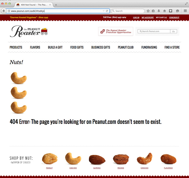 Nuts! The Page You Are Looking for Doesn't Exist