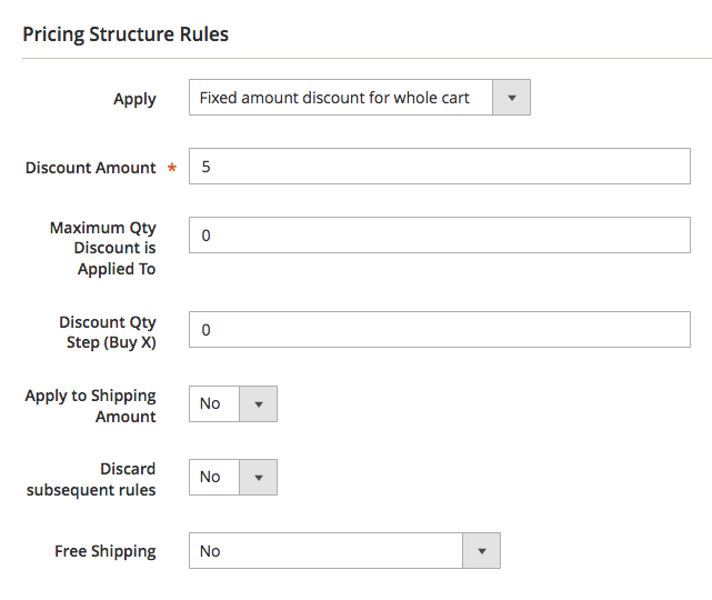Pricing Structure: Fixed Price Discounts With Coupon Codes
