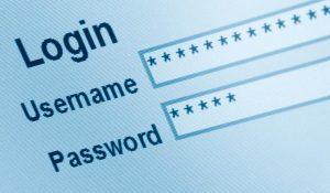 login screen with hidden password
