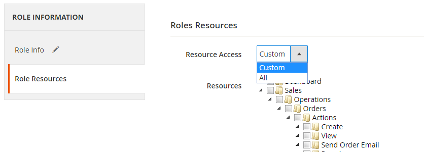 Define Permissions Granted to the Role