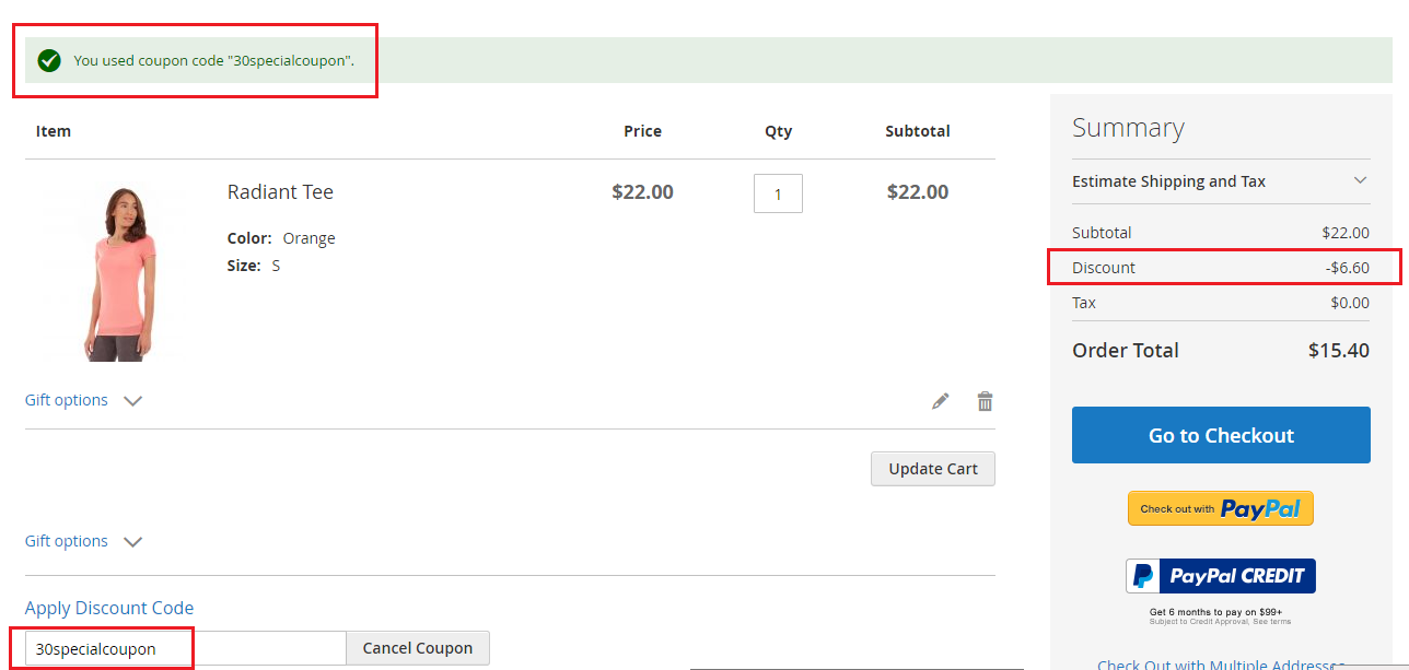 How to Create a Coupon Code for a Percentage Discount in Magento 2