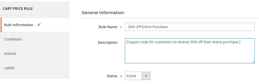 Add general rule information