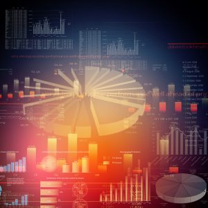 image - big data business analytics charts and graphs all mixed together