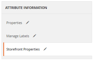Storefront Properties Tab