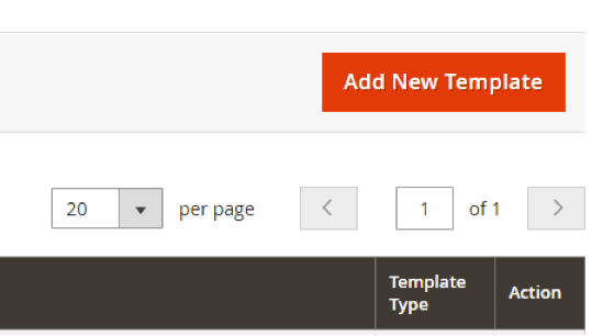 Add New Email Template Button