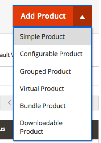 Click the Add Product Dropdown and Choose Simple Product