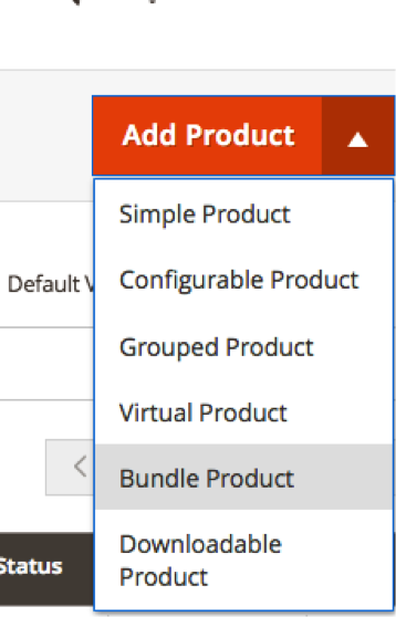 Dropdown Menu Select Bundle Product